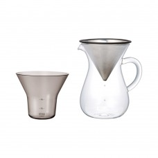 KINTO - 04 CC ST COFFEE CARAFE SET 600ML STAINLESS STEEL